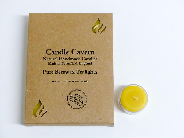 Natural Beeswax Tealights - Box of 12