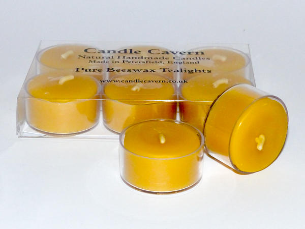 Natural Beeswax Tealights - Box of Six
