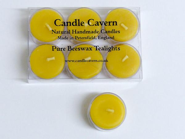 Natural Beeswax Tealights - Box of Six