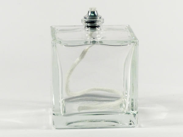 Mini Cube Clear Glass Oil Lamp
