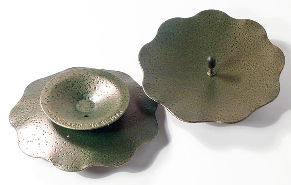 95mm Candle Plate/Dish - Spike (Scallop)
