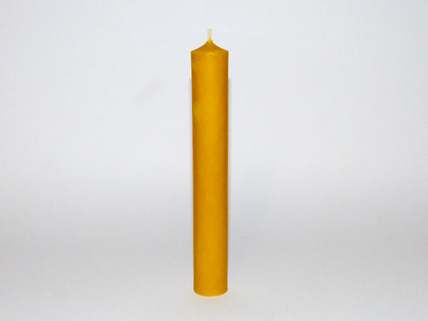 Solid Straight Beeswax MEDIUM Dinner Candle x 2