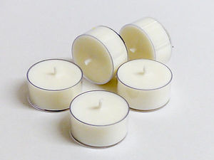 BULK Pure Soy Wax Tealights -  720 LOOSE - Unscented