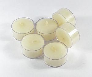Natural WHITE Beeswax Tealights - Box of 6