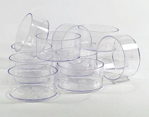 Polycarbonate Tealight Cups - Standard - Clear