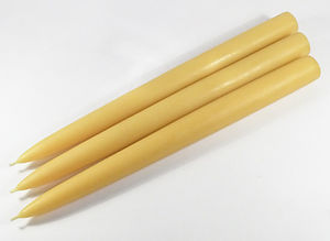 Solid Tapered Beeswax Dinner TALL Candles x 3